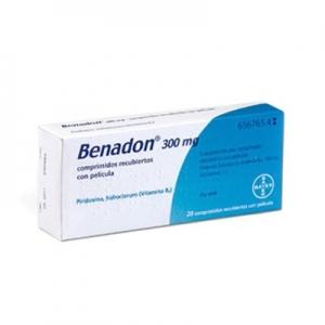 Benadon 300 Mg 20 Comprimidos
